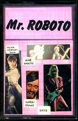 043_Mr. Roboto_front (cassettes) Tags: cassette frontcover artwork music tapes audio olivianewtonjohn direstraits supertramp styx tape cassettes cassettetape pinkness