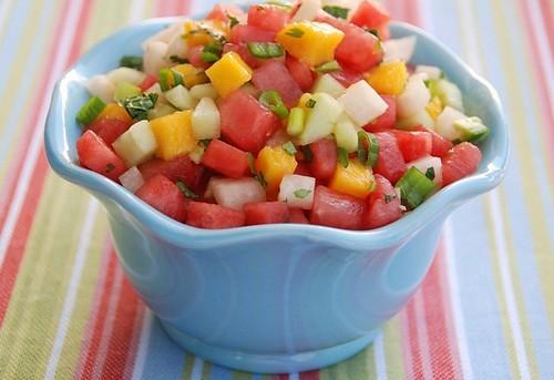 watermelon-mango-jicama salsa