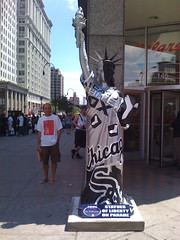 Chicago White Sox Statue in the East Village of New York City
