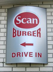 Scanburger drive-in sign