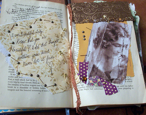 VINTAGE ART JOURNAL - beautiful lady