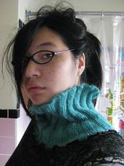 Goodbye, sweater. (Klara Kim) Tags: me girl asian bathroom sweater teal freckles klara bathroomselfportrait klarakim