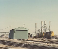 The Atchinson, Topeka & Santa Fe Corwith Yard engine terminal. Chicago Illinois. March 1985.