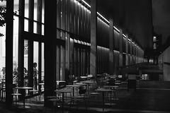 cafeteria (F_blue) Tags: tokyo fuji nikonf tokyouniversity bunkyoku   5012 neopan1600superpresto campusatnight  fblue2008