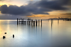Sausalito Morning (PatrickSmithPhotography) Tags: sanfrancisco california longexposure travel sea wallpaper vacation usa seascape fog sunrise seascapes treasureisland marin baybridge marincounty alcatraz canon5d sausalito yerbabuenaisland californialandscape landscapephotography skyscrapercity californiaseascape seascapephotography canon1740lnd