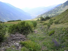 View down from Pian del'Alp (Fenestrelle, Piemonte, Italy) Photo
