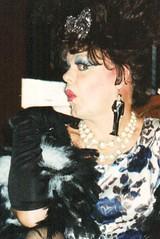 Junie Moon with Groom and Groom earrings! (hawhawjames) Tags: chicago beautiful hair drag tv big cross fierce cd queen bighair showgirl wig tranny tall trans dragqueen dresser performer crossdresser dq illusionist