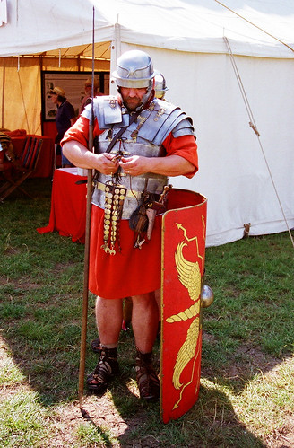 Roman Legionary Soldier, Ermine Street Guard Re-enactor | Flickr ...