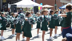 Youth Cheerleaders perform