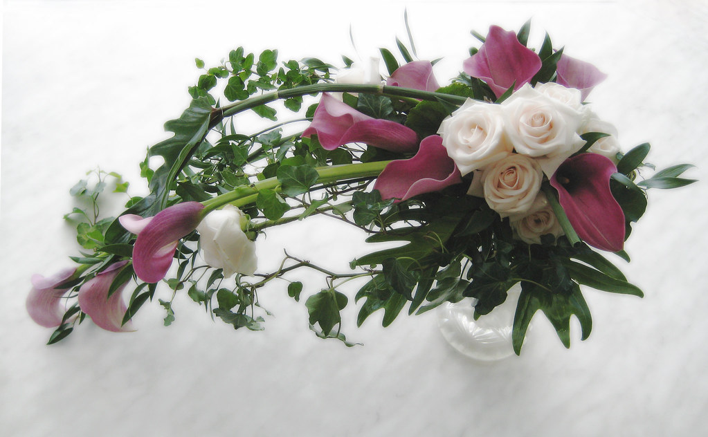 calla lillies and roses - bridal bouquet/Brautstrauß