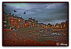 Dark clouds over the Damsterdiep,Groningen,the Netherlands (Aheroy(2Busy)) Tags: city houses holland art water netherlands dutch architecture night buildings dark town europe colours different darkness arts nederland surreal creepy hallucination groningen hdr stad beautifull damsterdiep townview aplusphoto aheroy aheroyal verzakking