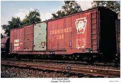 PRR Boxcar 88407 (Robert W. Thomson) Tags: railroad car train pennsylvania tennessee railway trains traincar boxcar prr rollingstock etowah
