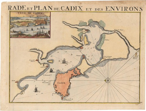 Rade et Plan de Cadix et des Environs
