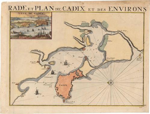 Rade et Plan de Cadix et des Environs