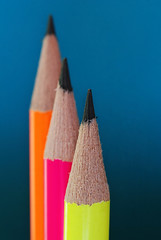 Pencil Macro (E.L.A) Tags: wood pink blue school red stilllife orange macro yellow vertical closeup pencil children creativity photography design office education colorful close image vibrant object group creative objects nobody nopeople sharp equipment material studioshot choice multicolored ideas tool variation gettyimages stockimages concepts inarow partof bluebackground groupofobjects artandcraft colorimage threeobjects coloredbackground focusonforeground