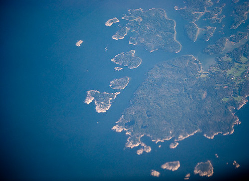 view from the plane: Scandinavia from 33,000ft