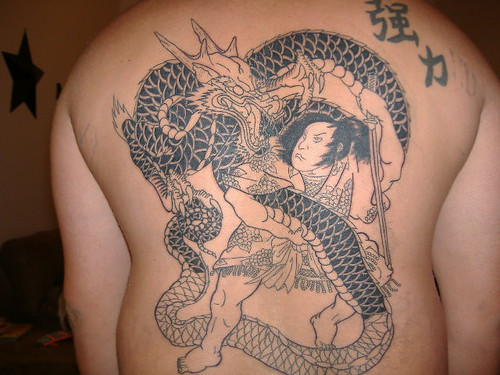 Dragon/ Samurai Tattoo Session 2 by tattoo_guy. 12 1/2 hours in.