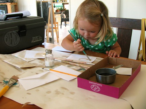 painting with coffee!