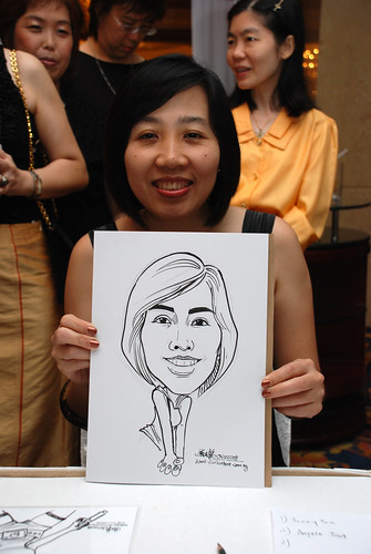 Caricature live sketching for Great Eastern Life D&D 2008  2