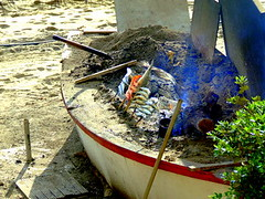 Pesce allo spiedo (sarajevo.napoli) Tags: winter fish beach lunch spain andalucia viaggio spiaggia vacanza spagna marbella seppia