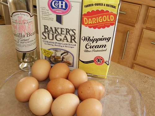 Ingredients for creme brulee