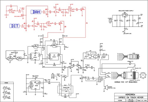 Schematic Electronic Keyer