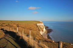 Atop the white cliffs of Dover (sub_lime79) Tags: uk sea england sky rural downs landscape chalk cliffs fields pastures whitecliffs dover englishchannel sigma1020 d40