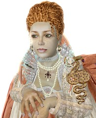 Elizabeth I. - Rainbow Portrait gown, 3.