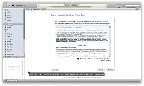 Accepta Termenii si Conditiile iTunes Store