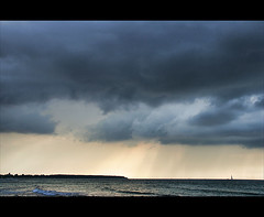will the weather change? (Sabinche) Tags: sea clouds warnemnde balticsea sabinche mecklenburgvorpommern impressedbeauty