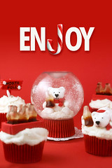 Enjoy (Bakerella) Tags: christmas red snow cupcakes cola coke cocacola polarbears snowglobe snowglobes ironcupcake ice005 005received