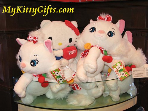 Hello Kitty with Cute White Kitties at Merlin's Treasures, Hong Kong Disneyland