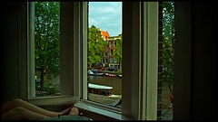 View of Prinsengracht Canal (pro tempore) Tags: netherlands amsterdam apartment 169 prinsengrachtcanal canalhouse canalboats