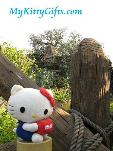 Hello Kitty's View of Tarzan's Treehouse in Adventureland, Hong Kong Disneyland