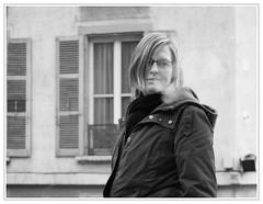 smoke (sapristik) Tags: street city portrait people bw girl canon outdoors photo model cigarette portraiture blonde rue fille mysterieuse sapristik