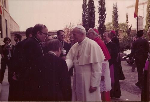 El Papa Juan Pablo II en Toledo. 4 de Noviembre de 1982
