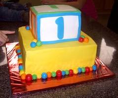 Baby Block & Balls cake