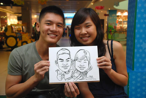 Caricature live sketching for Marina Square Day 2 - 26
