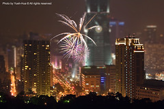 Tilt-shift Fake * Fireworks & Taipei 101 - Happy New Year 2009, Taiwan (*Yueh-Hua 2013) Tags: longexposure sky building tower architecture skyscraper landscape fireworks fake 101   effect   happynewyear       tiltshift 101      canoneos30d tiltshiftfake horizontalphotograph tiltshiftminiaturefake   canonef70200mmf4lisusm  is  l  taipei101internationalfinancialcenter tigerpeak    2009january