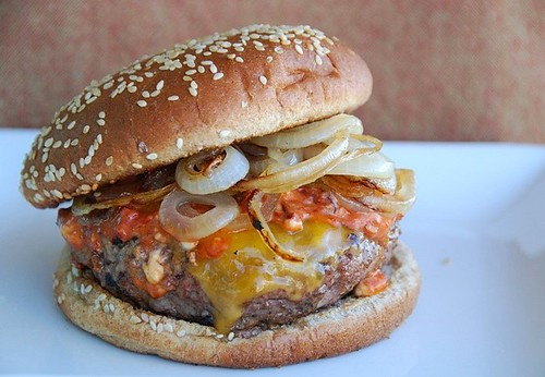 a Southwest hamburger