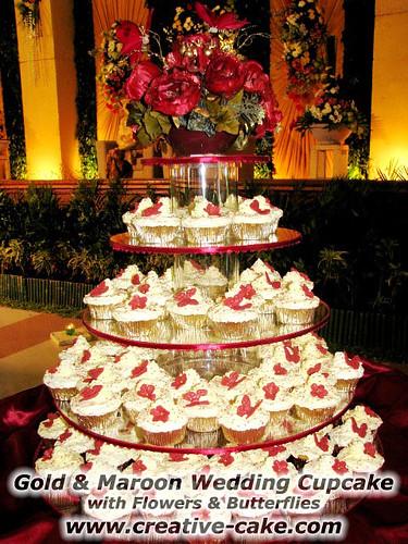 Creative Cake S Kitchen Gold Amp Maroon Wedding Cupcake
