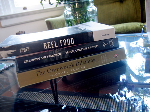 required reading for my spring seminar eating san francisco - anne bower's reel food: essays on food and film; james brook, chris carlsson, nancy j peters' reclaiming san francisco: history, politics, culture; and michael pollan's the omnivore's dilemma by davidsilver.