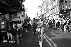 Deitch Art Parade 2006 (! ramblinworker) Tags: deitchprojects gold 2006 tank creativetime paintings jakeklotz stevemacdonald swipple embroidered timclinton ramblinworker matthewdavis papermagazine theartparade westbroadway embroider embroidery ramblin worker