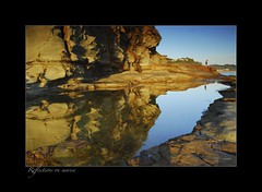 Reflections on sunrise (fischstarr) Tags: blue sky cliff beach pool rock sunrise reflections nikon 1855mm centralcoast filters avoca cokin gradnd 121s 121m d40x