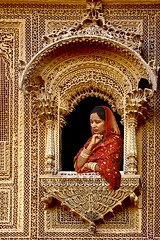 Finely Carved Window - Jaisalmer (Tilak Haria) Tags: portrait india window jaisalmer rajasthan colorphotoaward pratibimbsangli theunforgettablepictures carvedwindow rubyphotographer