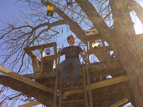 Nick in a Tree House