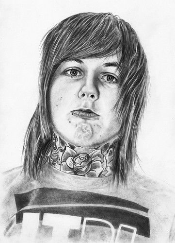 Oli Sykes drawing by Alone_in_december.