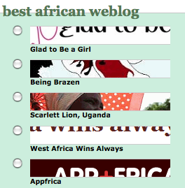 Best African blog finalists