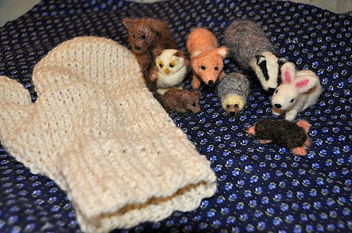 All the animals and the mitten