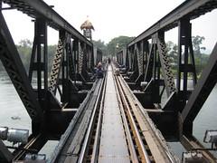 011 - Thailand - Kanchanaburi, Bridge on the river Kwai (romeomike) Tags: bridge kanchanaburi kwai